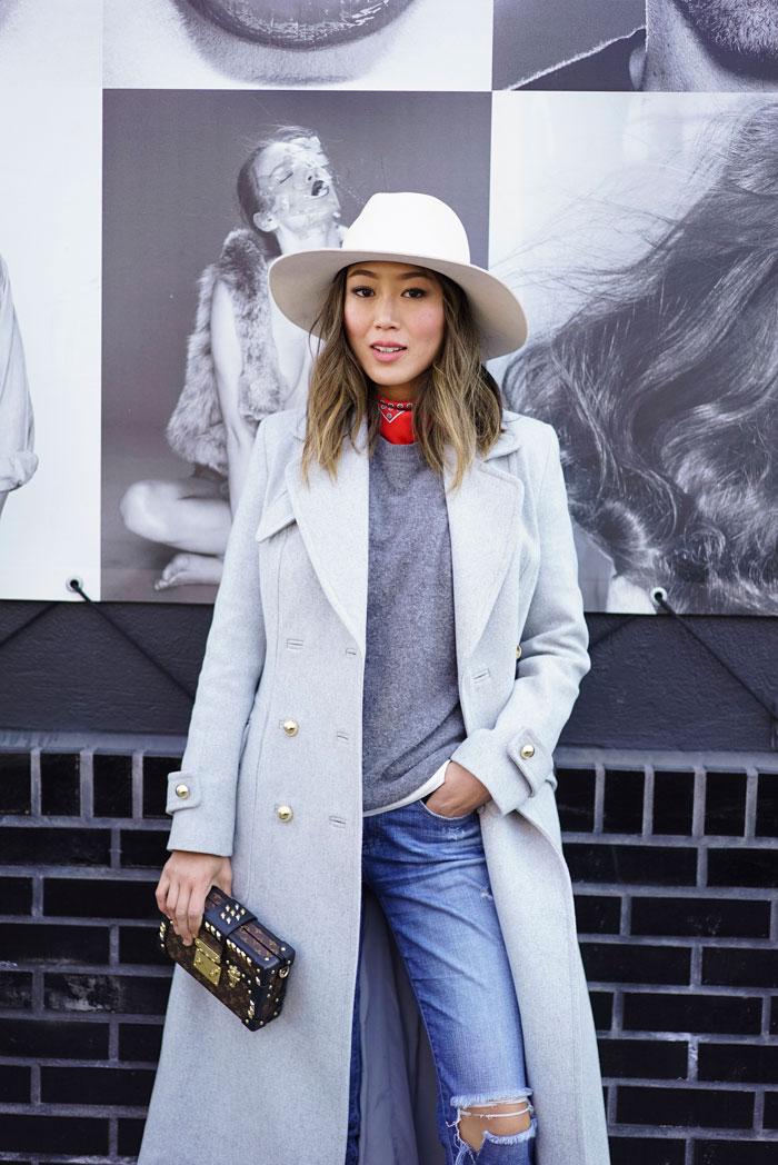 0549b4c62b0c2a NYFW street style + New York Fashion Week blogger style + NYFW Aimee Song +  Aimee Song Song of Style + women's winter fashion 2016
