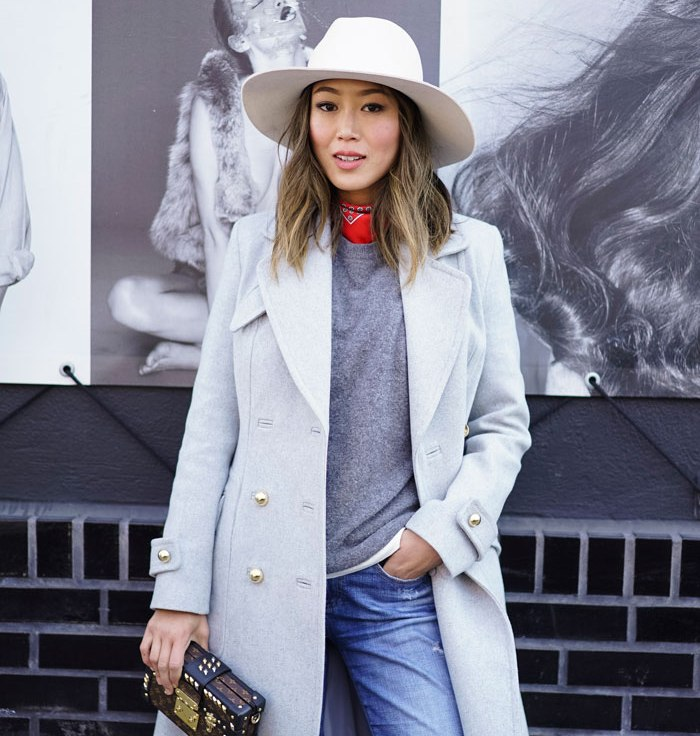 NYFW street style + New York Fashion Week blogger style + NYFW Aimee Song + Aimee Song Song of Style + women's winter fashion 2016