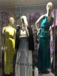 Contrast with stronger shades and dressier gowns (BCBG)