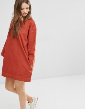 burnt-orange-shift-dress
